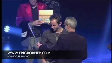 Premier prix Eric Borner manipulation de cartes