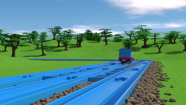 File:TOMICA Thomas Friends Short 45 The Great Bridge Jump The Great Race Parody YouTube (4).png
