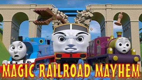 TOMICA Thomas and Friends Short 50 Magic Railroad Mayhem (TATMR Chase Parody)