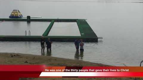 BREAKING NEWS- Christopher Lewis was Baptised at Camp Vega