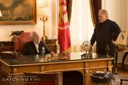 Catching Fire Snow and Plutarch