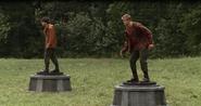 Cato und der junge aus Distrikt 6 in der Arena
