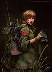 576x792 15747 Star Wars Edge of the Empire Scout 2d sci fi girl woman soldier picture image digital art