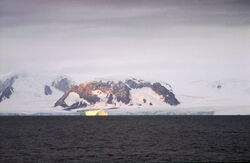 Elephant Island with Iceberg