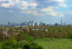 London from Primrose Hill May 2013