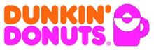 Dunkin 1976 logo with pink coffee