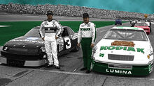 Dale Earnhardt and Ken Schrader