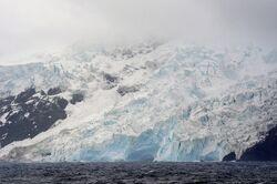 Bouvet Island west coast glacier