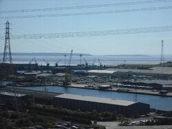 Newport docks, from the Transporter Bridge