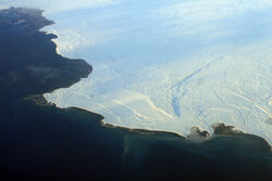 Aerial view of the edge of the ice in Nunavut 2