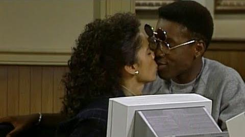 A Different World 2x04 - Whitley fantasizing about kissing Dwayne