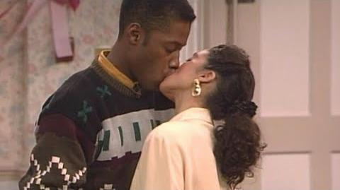A Different World 3x07 - Dwayne and Whitley's famous kiss