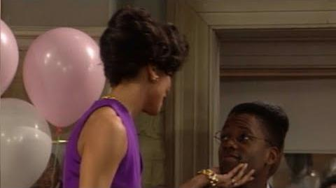 A Different World 6x25 - Whitley and Dwayne's farewell party