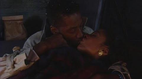 A Different World 3x05 - Dwayne and Whitley get stuck in the snow and share an intimate kiss