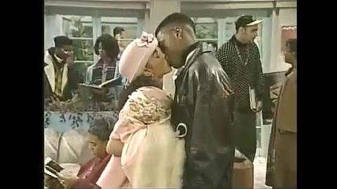 A Different World 5x08 - Dwayne kisses Whitley's cousin