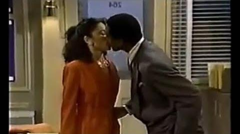 A Different World 5x17 - Whitley kisses Byron
