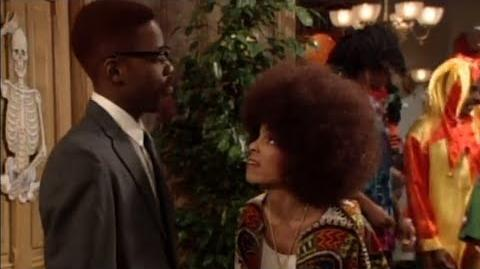 A Different World 6x07 - Dwayne and Whitley throw a Halloween party