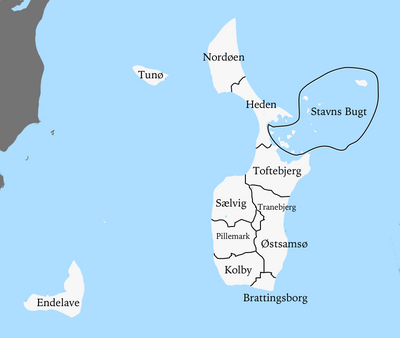 Samsø municipalities
