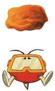 Pooka and a Rock (Dig Dug Atari 2600 Official Artwork)