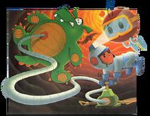 Dig Dug Atari 5200 Cover Artwork