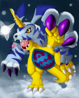 Gabumon attack colored by metalzoa17-d2aqsdd