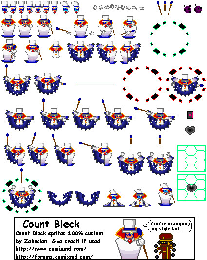 Count Bleck Sprites by Zebesian