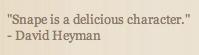 Delicious Snape