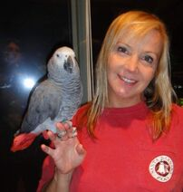 Brianne Siddall with bird