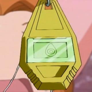 Nach Kokatorimons Angriff erhält Mimi ihr Wappen.
