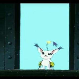 Gatomon entkommt durch das Tor und lässt die Digiritter zurück.