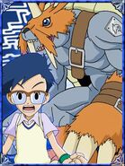 Jyo & Zudomon Collectors Digimon Adventure Special Card