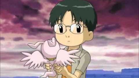 Digimon Tamers - Shiroi Kamome - Kenta Kitagawa y MarineAngemon-0