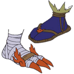 Shogunmons Füße