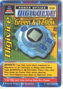 Digivice Green & Yellow St-60 (DB)