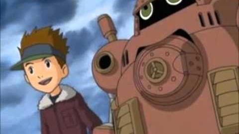 Digimon Tamers - Danshi Team - Kazu Shiota y Guardromon