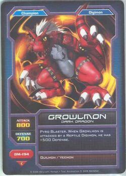 Growlmon DM-194 (DC)