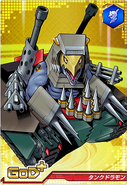 Tankdramon Crusader card