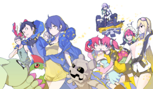 Digimon Story Cyber Sleuth Hacker's Memory 20th Anniversary Art