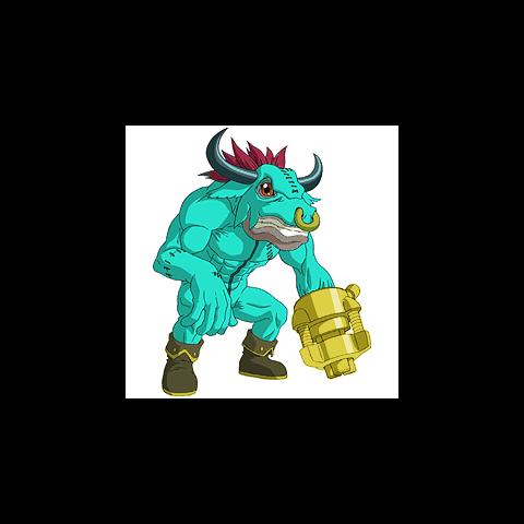 Minotarumon (Grün)