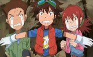 Zenjirou, Taiki y Akari - ¡terror!