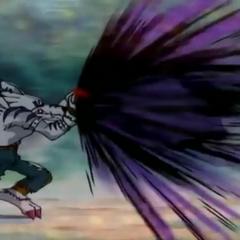 Schließlich greift WereGarurumon ein und besiegt Digitamamon!