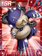 Porcupamon ex collectors card