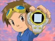 Takato y su digivice