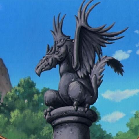 Eine Ornithmon-Statue