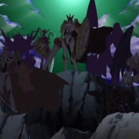 Die Königlichen Ritter im zweiten Vorspann Wolkenreiter bzw. Hirari