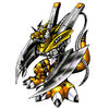 WarGrowlmon (Yellow) b