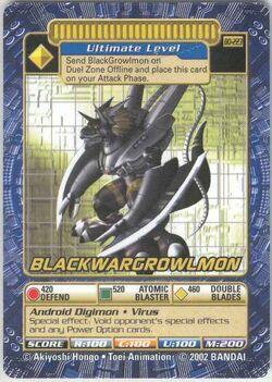 BlackWarGrowlmon Bo-223 (DB)