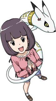 Mayu Kohinata and Kudamon b