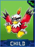 Hawkmon Collectors Child Card