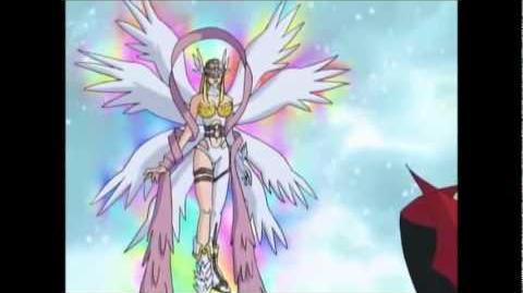Gatomon Digievoluciona a Angewomon - Muerte de Myotismon HQ